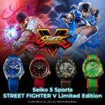 Seiko Street Fighter V de Seiko Serie 5 Sports - Edición Limitada